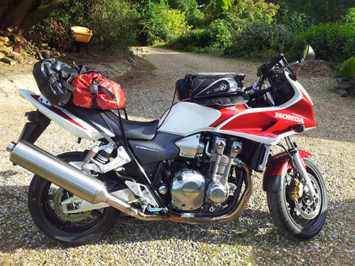 The CB1300s ready for Devon.