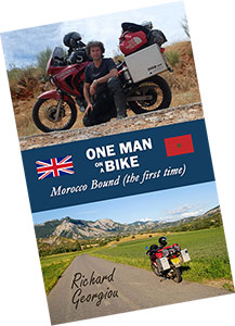 One Man on a Bike - Morocco Bound. New book.